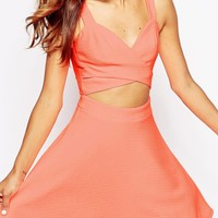 ASOS Crop Top Texture Mini Dress