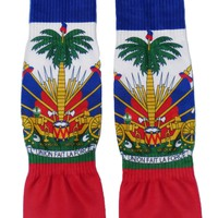 Haiti Flag AOP Adult Crew Socks All Over Print