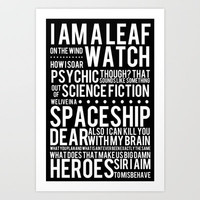 Firefly Subway Poster Art Print by Alli Woods Frederick