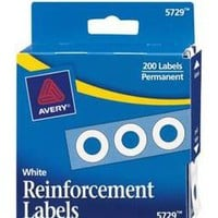 Avery Permanent Self Adhesive Reinforcement Labels White Pack Of 200 by Office Depot & OfficeMax
