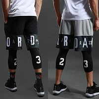 Men Basketball shorts Sports Gym QUICK-DRY Workout Compression Board Shorts For Male Soccer Exercise Running Fitness tights