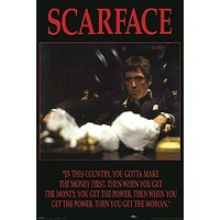 SCARFACE POSTER You Gotta Make the Money First RARE HOT NEW 24x36