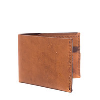 No. 6 Leather Wallet - Whiskey – Bison Made