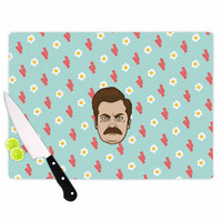 "Juan Paolo ""Give Me All Of The Bacon And Eggs"" Parks & Recreation Cutting Board"
