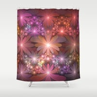 Bed Of Flowers Abstract, Fractal Art Shower Curtain by Gabiw Art