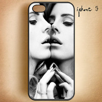 Lana Del Rey Mirror Face to Face-Design On Hard Plastic Cover Case, IPhone 4,4S or IPhone 5 Case, Samsung Galaxy S2,S3 or S4 Case