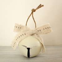 Handmade Personalized Christmas Ornaments : large jingle bell 1st Christmas ornament baby's first Christmas Ornaments gifts