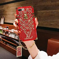 LV Louis Vuitton Hot Selling Diamond Mobile Phone Case, Personalized Fashion Lady iPhone Case 1