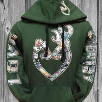 Forest Green Love Country Real Tree Camo Hoodie