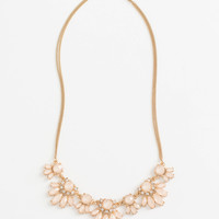 Dana Light Peach Statement Necklace
