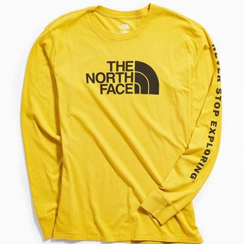 The North Face Half Dome Long Sleeve Tee   Urban Outfitters