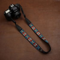 Floral Embroidered DSLR Camera Strap
