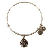 Alex and Ani Water Lily Charm Bangle - Russian Silver