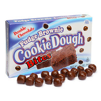 Fudge Brownie Cookie Dough Bites Theater Size Packs: 12-Piece Box