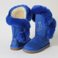 """Indianapolis Colts Women's Cuce Official NFL """"Champions"""" Boots"""