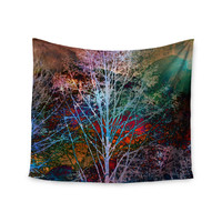 """Sylvia Cook """"Trees in the Night"""" Wall Tapestry"""