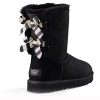 UGG Bailey bow black boots