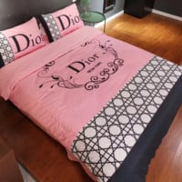 DIOR 4 PC Bedding Set Conditioning Throw Blanket Quilt For Bedroom Living Rooms Sofa