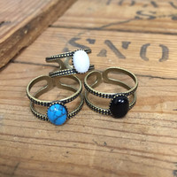 Solitary Stone Ring