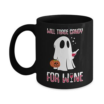 Will Trade Candy For Wine Lover Halloween Mug