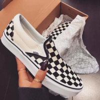 Vans Tide brand classic men and women wild checkerboard canvas shoes