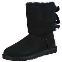 UGG Australia Women's Bailey Bow Sheepskin Boot Black Size US 7 NEW