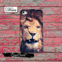 Lion Snarl Teeth Safari Animal Power Tumblr Inspired iPhone 4 Case and iPhone 5/5s/5c Case and iPhone 6, 6 Plus, 6s, 6s Plus + Wallet Case