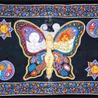 Psychedelic Butterfly Tapestry