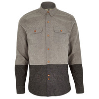 Bellfield Grey Color Block Flannel