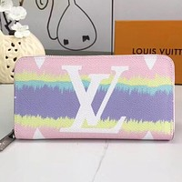 LV New fashion monogram leather wallet purse handbag Pink