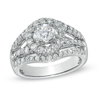 2 CT. T.W. Diamond Open Shank Engagement Ring in 14K White Gold - View All Rings - Zales