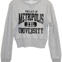Metropolis University Superman Cropped Sweatshirt