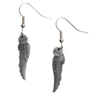 Doctor Who Don't Blink Wing Earrings