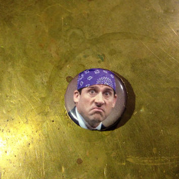"""THE OFFICE prison mike  1"""" inch pin back button"""