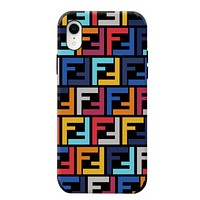 Fendi New more letter print couple protective cover phone case