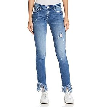 Blanknyc Frayed Distressed Skinny Jeans in Low Key Judging, Size 25