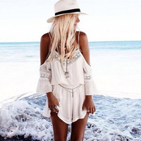 Sexy Women Summer Casual V Neck Playsuit Bodycon Party Jumpsuit Romper = 1931973316
