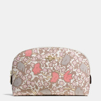 Cosmetic Case 22 in Yankee Floral Print Coated Canvas