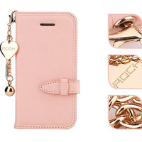 Pink leather slim iPhone 5 case, Kawaii iPhone 5, 5S,5C case,special leather iPhone 5/5S/5C cover,iPhone 5C case,iPhone 5C cover