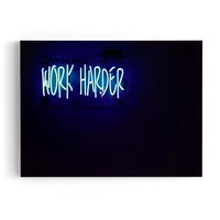 Work Harder Wall Decor