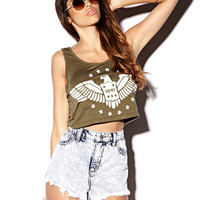 Army Graphic Crop Top