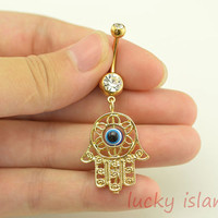 bellybutton jewelry, Hamsa Hand Belly Button Rings ,hamsa  Belly Jewelry,friendship bellyring,bff gift