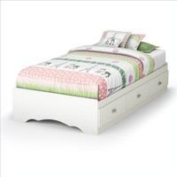 South Shore Tiara Collection Twin Mates Bed, Pure White