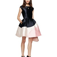 Kate Spade Colorblock Fit And Flare Dress Navy