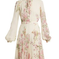 Garden Butterfly-print silk-georgette dress | Giambattista Valli | MATCHESFASHION.COM UK
