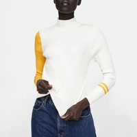RIBBED COLORBLOCK SWEATERDETAILS