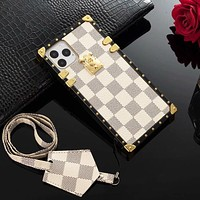 Louis Vuitton LV Fashion iPhone Phone Transparent Cover Case For iPhone 7 7plus 8 8plus X iPhone XR XS MAX 11 Pro Max 12 mini 12 Pro Max