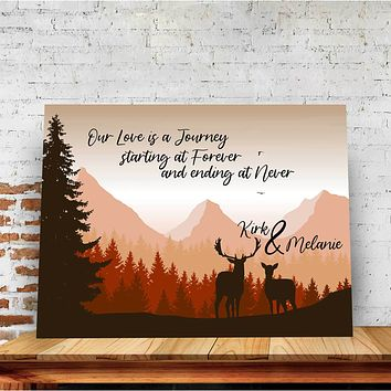 Our Life is a Journey Custom Canvas Set