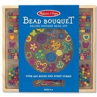 Melissa & Doug Bead Bouquet Deluxe Wooden Bead Set With 220+ Beads for Jewelry-Making