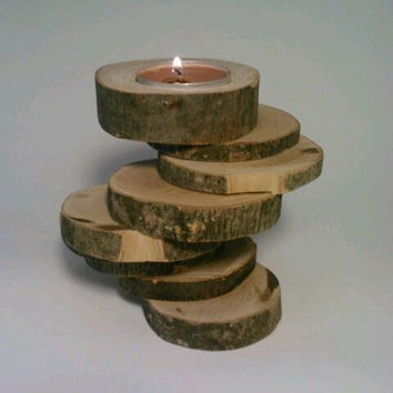 Rustic Candle Holder by DeerwoodCreekGifts